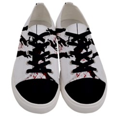 Stop Animal Testing   Rabbits  Men s Low Top Canvas Sneakers