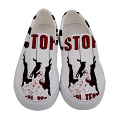 Stop Animal Testing   Rabbits  Women s Canvas Slip Ons