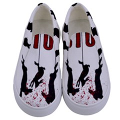 Stop Animal Testing   Rabbits  Kids  Canvas Slip Ons