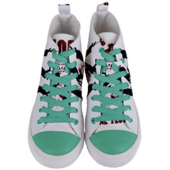 Stop Animal Testing   Rabbits  Women s Mid Top Canvas Sneakers