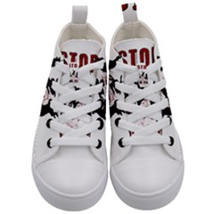 Stop Animal Testing   Rabbits  Kid s Mid Top Canvas Sneakers