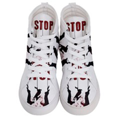 Stop Animal Testing   Rabbits  Men s Hi Top Skate Sneakers