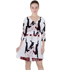 Stop Animal Testing   Rabbits  Ruffle Dress