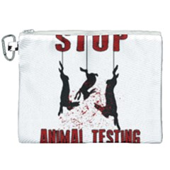 Stop Animal Testing   Rabbits  Canvas Cosmetic Bag (xxl)