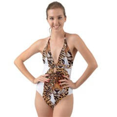 On?a Pintada  Halter Cut Out One Piece Swimsuit