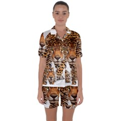 On?a Pintada  Satin Short Sleeve Pyjamas Set