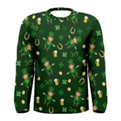 St Patricks Day Pattern Men s Long Sleeve Tee