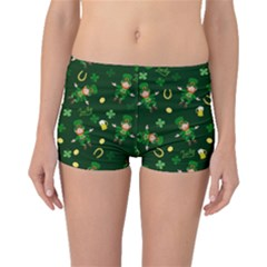 St Patricks Day Pattern Boyleg Bikini Bottoms