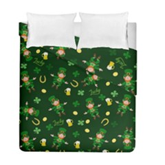 St Patricks Day Pattern Duvet Cover Double Side (full/ Double Size)