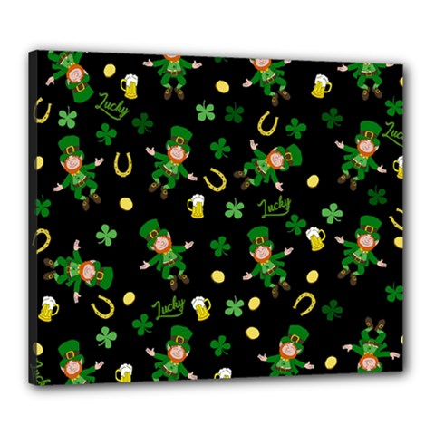 St Patricks Day Pattern Canvas 24  X 20