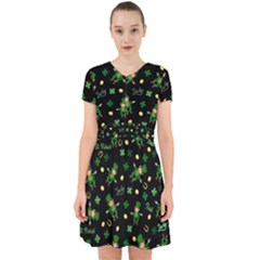 St Patricks Day Pattern Adorable In Chiffon Dress