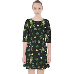 St Patricks Day Pattern Pocket Dress