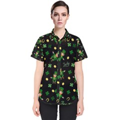 St Patricks Day Pattern Women s Short Sleeve Shirt