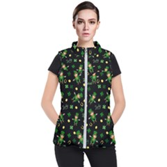 St Patricks Day Pattern Women s Puffer Vest