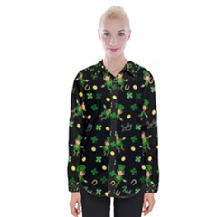 St Patricks Day Pattern Womens Long Sleeve Shirt
