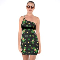St Patricks Day Pattern One Soulder Bodycon Dress