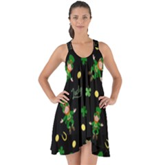 St Patricks Day Pattern Show Some Back Chiffon Dress