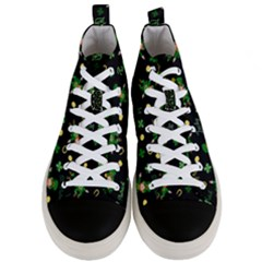 St Patricks Day Pattern Men s Mid Top Canvas Sneakers