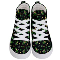 St Patricks Day Pattern Kid s Hi Top Skate Sneakers