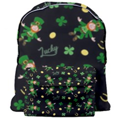 St Patricks Day Pattern Giant Full Print Backpack