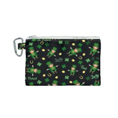 St Patricks Day Pattern Canvas Cosmetic Bag (small)