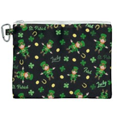 St Patricks Day Pattern Canvas Cosmetic Bag (xxl)
