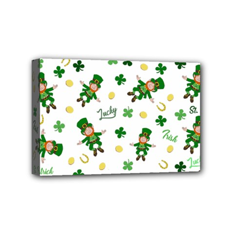 St Patricks Day Pattern Mini Canvas 6  X 4