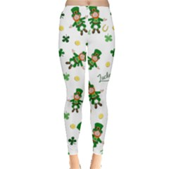 St Patricks Day Pattern Leggings
