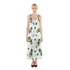 St Patricks Day Pattern Sleeveless Maxi Dress
