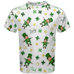 St Patricks Day Pattern Men s Cotton Tee