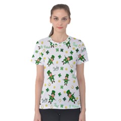 St Patricks Day Pattern Women s Cotton Tee