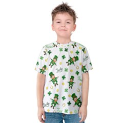 St Patricks Day Pattern Kids  Cotton Tee