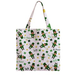 St Patricks Day Pattern Grocery Tote Bag