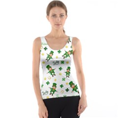 St Patricks Day Pattern Tank Top