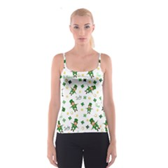 St Patricks Day Pattern Spaghetti Strap Top
