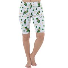 St Patricks Day Pattern Cropped Leggings