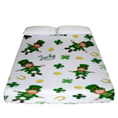 St Patricks Day Pattern Fitted Sheet (king Size)