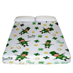 St Patricks Day Pattern Fitted Sheet (california King Size)
