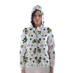 St Patricks Day Pattern Hooded Wind Breaker (women)