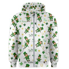 St Patricks Day Pattern Men s Zipper Hoodie