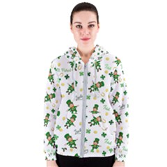St Patricks Day Pattern Women s Zipper Hoodie