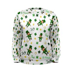 St Patricks Day Pattern Women s Sweatshirt