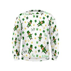St Patricks Day Pattern Kids  Sweatshirt
