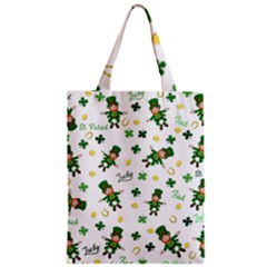 St Patricks Day Pattern Zipper Classic Tote Bag