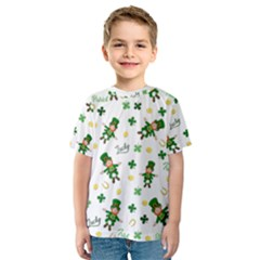 St Patricks Day Pattern Kids  Sport Mesh Tee