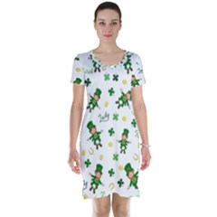 St Patricks Day Pattern Short Sleeve Nightdress