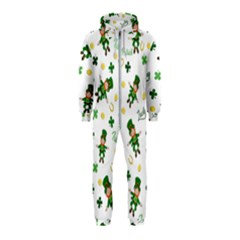 St Patricks Day Pattern Hooded Jumpsuit (kids)