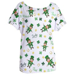 St Patricks Day Pattern Women s Oversized Tee