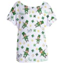 St Patricks day pattern Women s Oversized Tee View1