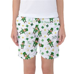 St Patricks Day Pattern Women s Basketball Shorts